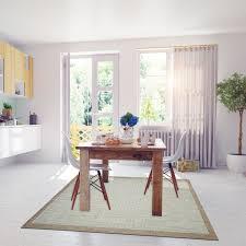 Modern Geometric Blue Dining Room Rug  Floorit