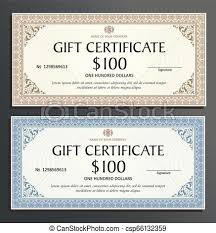 Gift Voucher Template Certificate Template Gift Voucher Diploma Vintage Border