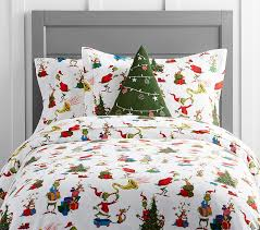 dr seuss s the grinch max flannel kids duvet cover pottery barn kids