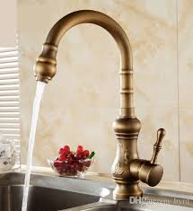 Discount Antique Brass Kitchen Faucet Bronze Finish Water Tap