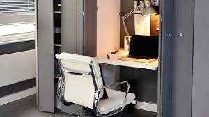 cramped office space. Concealed Office Desk - Smart Small Space Ideas Cramped I