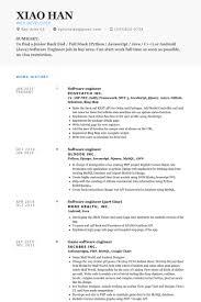 software developer resume template software engineer resume samples  visualcv resume samples database