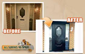 pvc front door respray pvc front door black respray