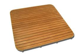30 inch teak mat rounded corners