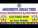 assignment abroad times hyderabad