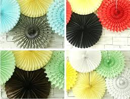 awesome paper fan decoration hanging tissue paper fans honeycomb tissue party wall fan hanging decorations
