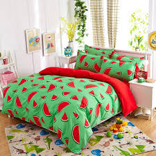 New fashion bedding sets Watermelon banana fruit bed sheet quilt ... & New fashion bedding sets Watermelon banana fruit bed sheet quilt duvet  cover pillowcase soft comfortable king Queen Full size-in Bedding Sets from  Home ... Adamdwight.com