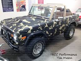 ford bronco urban camo vinyl wrap truck wrap in green brown camo by powersportswraps