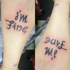 Im Fine Quotes Custom Save Me Im Fine Tattoo Favorited By