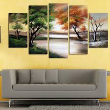 >shop changing seasons large gallery wrapped hand oil painting  changing seasons x27 large gallery wrapped hand oil painting canvas art