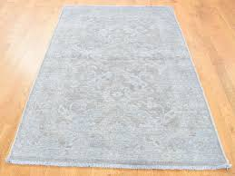 4 x6 white wash peshawar pure wool hand knotted oriental rug cwr40391