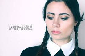 picture of wednesday addams makeup