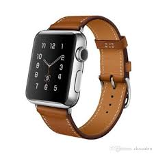 brown genuine leather band single tour bracelet watchband strap for apple iwatch 38mm 42mm