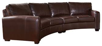 best curved leather sofas coaster cornell bonded sectional sofa brown curved leather sofa r25