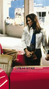 mia sara ferris bueller s day off sloane peterson fringe white leather jacket