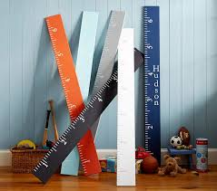 personalized growth charts pottery barn kids wooden ruler