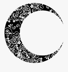 Crescent Moon Design Moon Clipart Floral Crescent Moon Design Png Cliparts