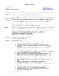 Entry Level Software Developer Resume Sample Resume Ideas