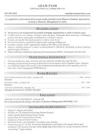 mba cv sample