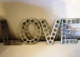 image of vintage 1 inch metal letters