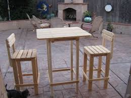 diy plans to make bar table and stool