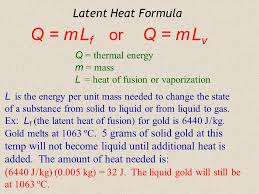 latent heat the word latent comes from a latin word that means to lie