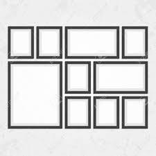 black picture frames. Collection Of Black Frames. Wooden Square Picture Frames Dark Set For Your Web Design