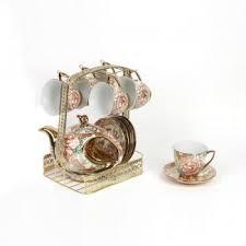 <b>Чайный сервиз Золотой</b> сад (14 пр.) купить в интернет магазине ...