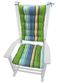 blue rocking chair. Westport Blue Cabana Stripe Rocking Chair Cushions | Barnett Home Decor