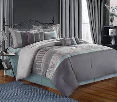image of modern light grey comforter king