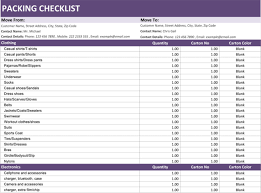 Packing For Vacation Lists Packing Checklist Template 5 Printable Packing Lists