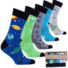 socks n socks mens 5pair luxury colorful cotton fun novelty dress socks gift box