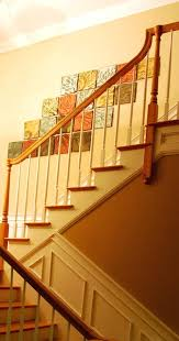 stairway wall decorations decorate stair wall staircase traditional with gallery wood stairwell decor decorating top of stairway decor