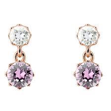 ted baker connolee pink crystal drop earrings