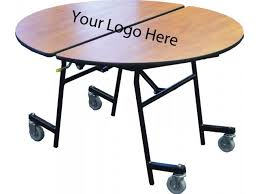 stow away folding round cafeteria table 60