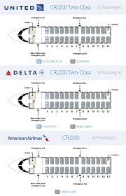 Delta Connection Seating Chart Aircraft Skywest Airlines