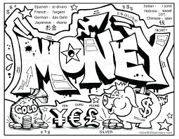 Money Coloring Pages Page Library For Preschoolers