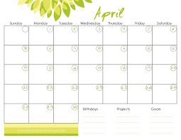 free april calendar