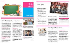 Free Newsletter Layout Templates Mesmerizing School Newsletter Templates For Classroom And Parents