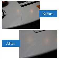 repaired out of corner of cooktop cutout in marbled corian material