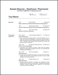 Ambulatory Care Pharmacist Sample Resume Best Critical Care Pharmacist Sample Resume Colbroco