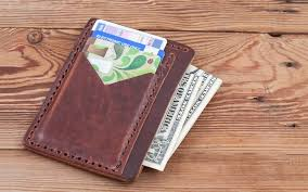 orthros leather front pocket wallet