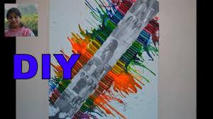 melted crayon art hair dryer art