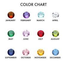 Swarovski Crystal Birthstone Chart 6 Stone Swarovski Crystal Heart Necklace