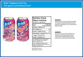iced tea nutritional info nutrition