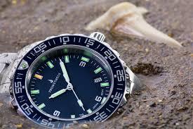 prometheus watch company prometheus jellyfish automatic tritium prometheus watch company jellyfish diver automatic mens diver watch blue dial
