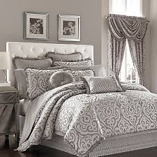 Comforters - Black & White Comforters, Bed Comforter Sets - Bed ... & image of J. Queen New Yorkâ?¢ Luxembourg Comforter Set in Antique Silver Adamdwight.com
