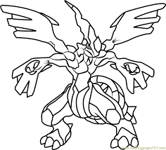 Small Picture Zekrom Pokemon Coloring Page Free Pokmon Coloring Pages
