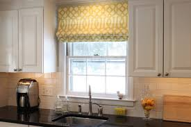 outside mount roman shades. Gold Tone Outside Mount Roman Shades For Tile Wall Kitchen White Wooden Cabinets Sleek Black