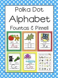 Fountas And Pinnell Where To Start Chart Fountas Pinnell Aligned Polka Dot Alphabet Letter Sound